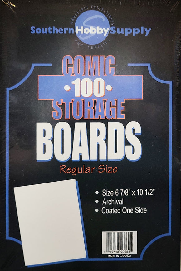 HOBBY 24 PT BACKER BOARDS - REGULAR SIZE (100 PK) - Mutant Beaver Comics