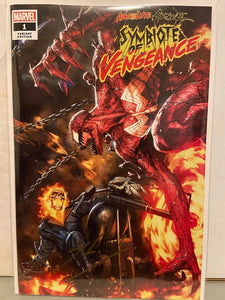 ABSOLUTE CARNAGE: Symbiote of Vengeance #1 Skan Exclusive SIGNED by Skan w/COA - Mutant Beaver Comics