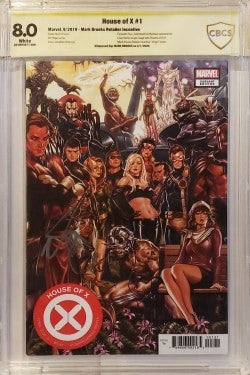 CBCS 8.0 HOUSE OF X #1 Mark Brooks Variant Signed by Brooks! - Mutant Beaver Comics