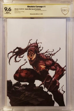 CBCS 9.6 ABSOLUTE CARNAGE #1 Skan THANK YOU VIRGIN Signed by Skan! - Mutant Beaver Comics
