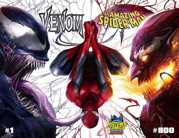 VENOM #1 & ASM #800 Connecting Set by Francesco Mattina!! - Mutant Beaver Comics