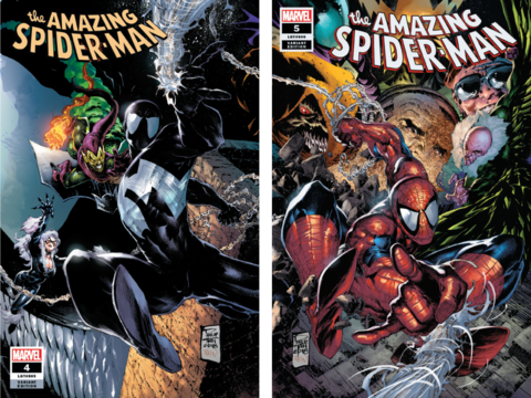 AMAZING SPIDER-MAN #4 & #5 Philip Tan TRADE DRESS Connecting SET (Trade + Virgin) ***IN STOCK*** - Mutant Beaver Comics