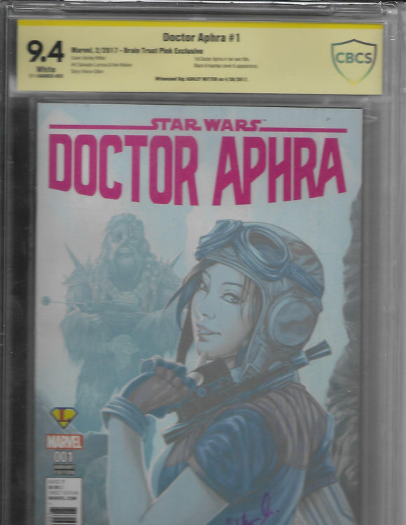 DOCTOR APHRA #1 Exclusive CBCS 9.4 Yellow Label - SIGNED by Ashley Witter!