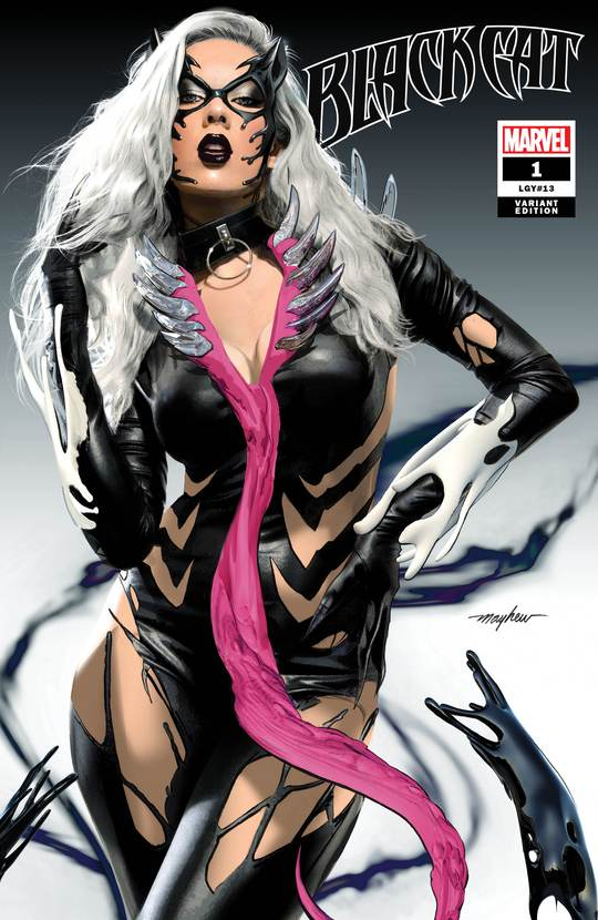 Pre-Order: BLACK CAT #1 KIB Mike Mayhew TRADE DRESS Exclusive! 12/30/20 - Mutant Beaver Comics