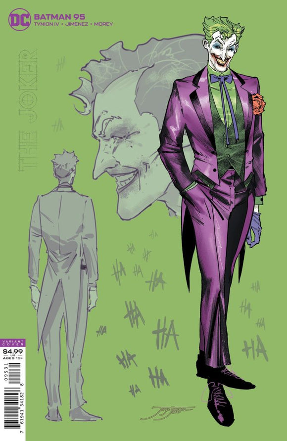 BATMAN #95 Jimenez 1:25 THE JOKER Ratio Variant! - Mutant Beaver Comics