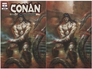CONAN #1 Lucio Parrillo Exclusive SET (Trade + Virgin) ***Only 1000 Sets*** - Mutant Beaver Comics