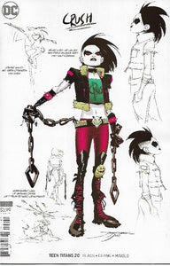 TEEN TITANS #20 1:25 JIMENEZ Design Variant! ***RED HOT!***Intro of Crush!***