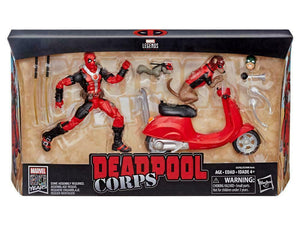 DEADPOOL Marvel Legends Figure & Vehicle Set - Deadpool Corps with Scooter!! - Mutant Beaver Comics