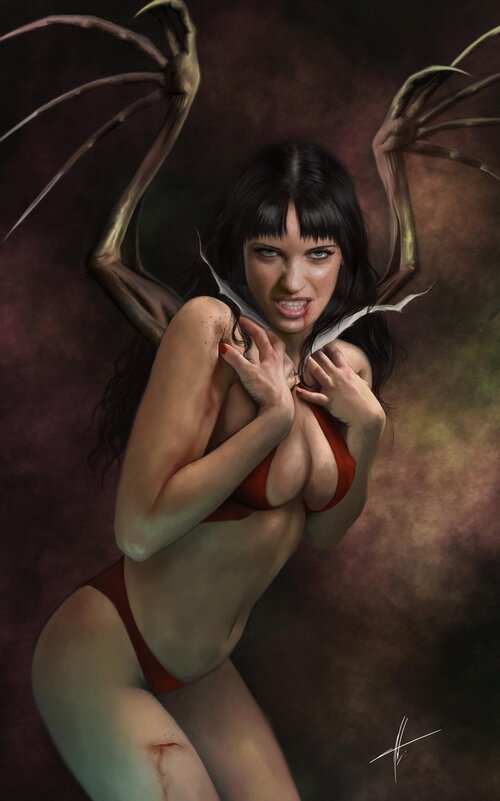 Pre-Order: VAMPIRELLA #10 Carla Cohen Virgin Exclusive! (Ltd to ONLY 300!)