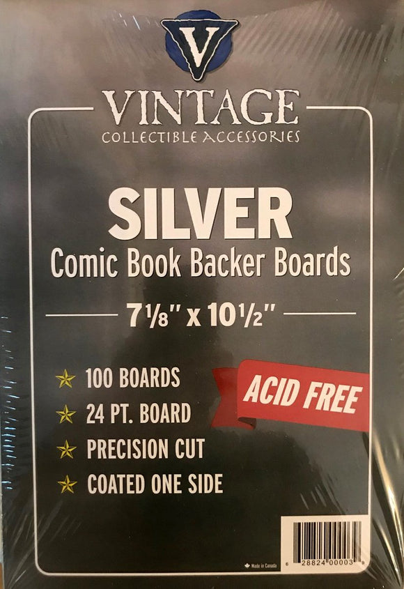 Vintage 24 pt Backer Boards - Silver Age Size (100 pk)