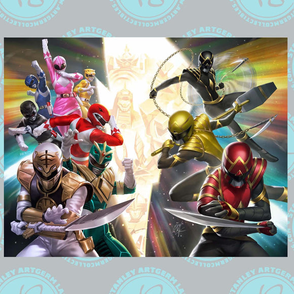 Pre-Order: MIGHTY MORPHIN #1 and POWER RANGERS #1 Virgin Connecting Set by Derrick Chew & Ejikure Wei Kat (11/30/20 )