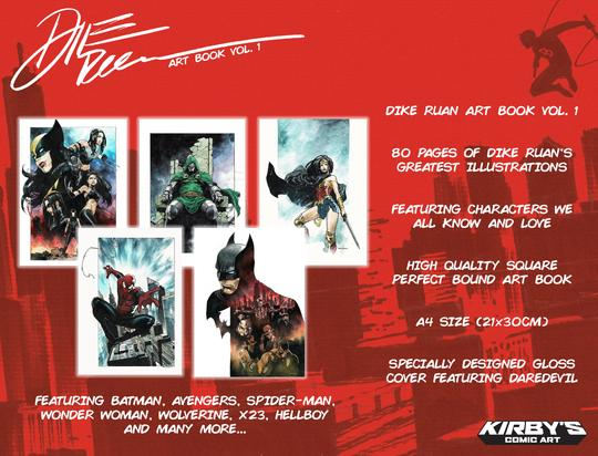 DIKE RUAN Art Book Vol. 1 (80 pages) SIGNED with COA!