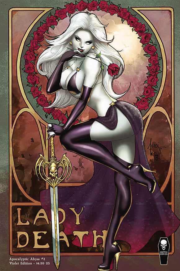LADY DEATH APOCALYPTIC ABYSS #2 (OF 2) VIOLET VAR COVER (MR)
