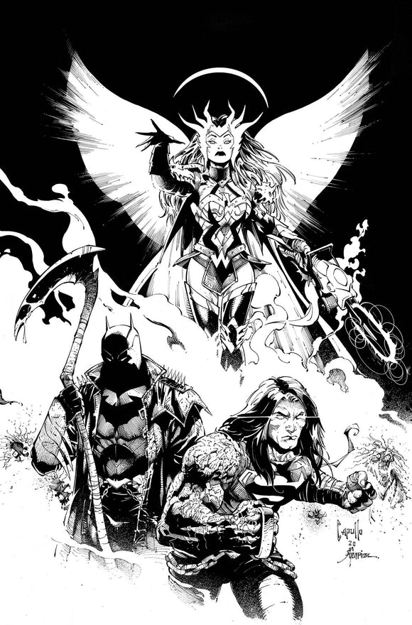 Pre-Order: DARK NIGHTS DEATH METAL #1 (OF 6) 1:100 Capullo B/W Ratio Variant! - Mutant Beaver Comics