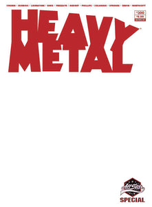 HEAVY METAL Sketch Blank - Mutant Beaver Comics