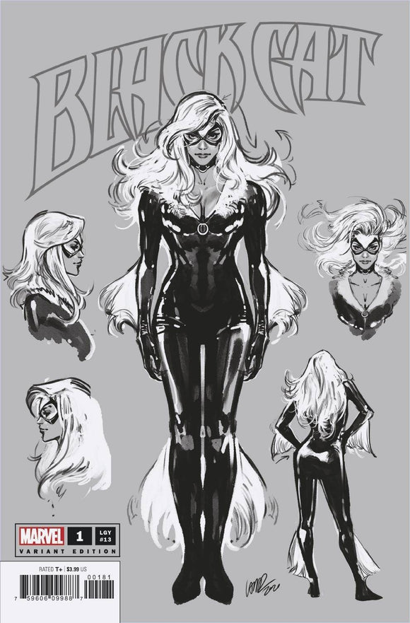 Pre-Order: BLACK CAT #1 LARRAZ 1:100 SKETCH RATIO VARIANT KIB 12/30/20 - Mutant Beaver Comics