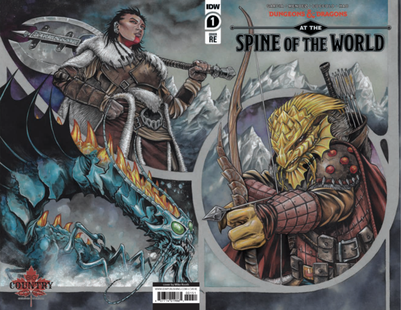 DUNGEONS & DRAGONS Spine of the World #1 Mike Rooth Wraparound Exclusive! ***Ltd to 1000*** - Mutant Beaver Comics