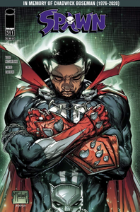 SPAWN #311 Chadwick Boseman Tribute Issue! - Mutant Beaver Comics
