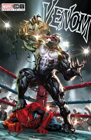 Pre-Order: VENOM #28 Kael Ngu WRESTLING BELT SPIDER-MAN Exclusive! (09/30/2020) - Mutant Beaver Comics