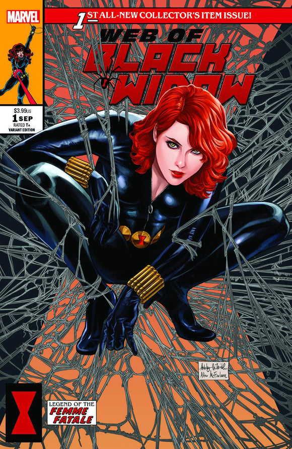WEB OF BLACK WIDOW #1 Ashley Witter (McFarlane Homage) EXCLUSIVE! ***Available in TRADE DRESS, and NYCC SET*** - Mutant Beaver Comics