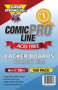 "***NEW*** 28 pt Backer Boards - CURRENT Boards - 6 3/4"" x 10 1/2"" - Mutant Beaver Comics"