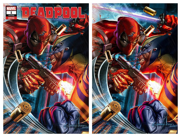 DEADPOOL #1 Greg Horn EXCLUSIVE Set (Trade Dress & Virgin) - Only 1000 Sets! - Mutant Beaver Comics