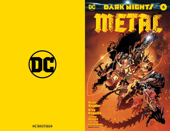 DARK NIGHTS METAL #6 Gold Foil Convention EXCLUSIVE! - Mutant Beaver Comics