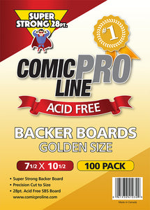 "***NEW*** 28 pt Backer Boards - GOLDEN AGE Boards -  7 1/2"" x 10 1/2"" - Mutant Beaver Comics"