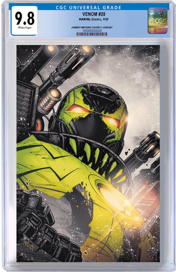 CGC 9.8 VENOM #28 JONBOY MEYERS EXCLUSIVE VIRGIN SECRET VARIANT! - Mutant Beaver Comics