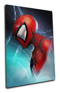 METAL SPIDER-MAN BUST PRINT (6.5 x 10) - Mutant Beaver Comics