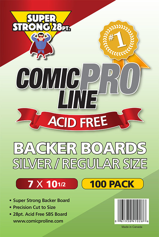 ***NEW*** 28 pt Backer Boards - REGULAR/SILVER AGE Boards - 7