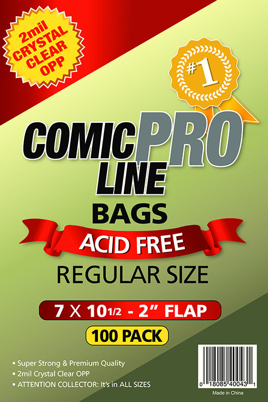 Crystal Clear 2 mil PRO Comic Bags - REGULAR SIZE 7