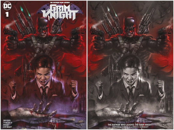 THE GRIM KNIGHT #1 Lucio Parrillo Exclusive SET (Trade + Horror Variant) ***Limited to 1000 w/ COA!*** - Mutant Beaver Comics