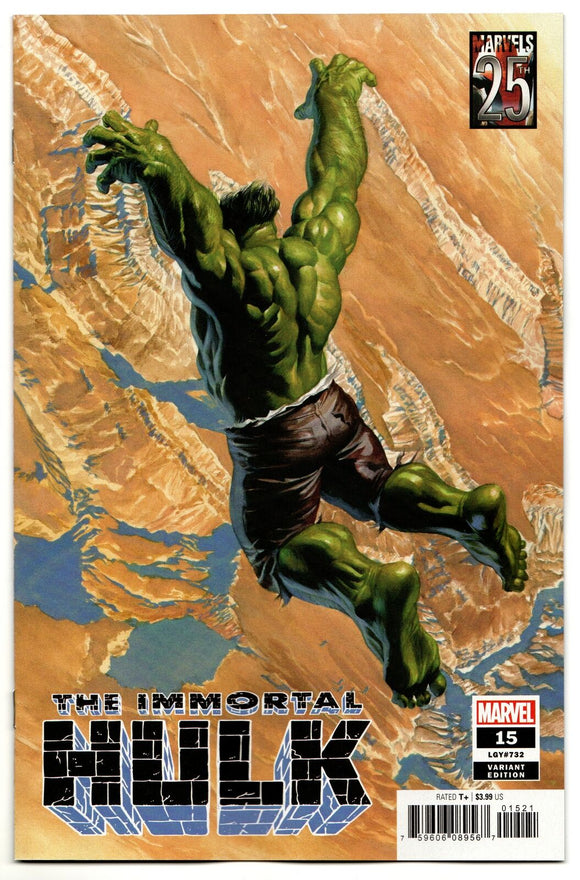 THE IMMORTAL HULK #15 Alex Ross 25th Anniversary Variant!