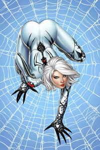 WHITE WIDOW #2 Sabine Rich FOIL VIRGIN Exclusive (Homage to Milo Manara's Spider-Woman pose) ***ONLY 100 Copies!*** - Mutant Beaver Comics