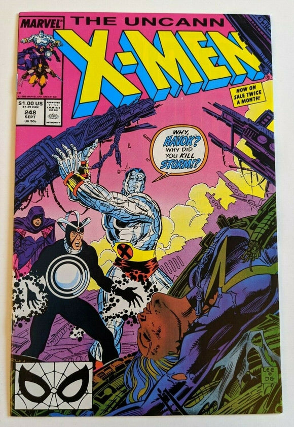 UNCANNY X-MEN #248 (Direct) 1st Jim Lee on X-Men - Mutant Beaver Comics