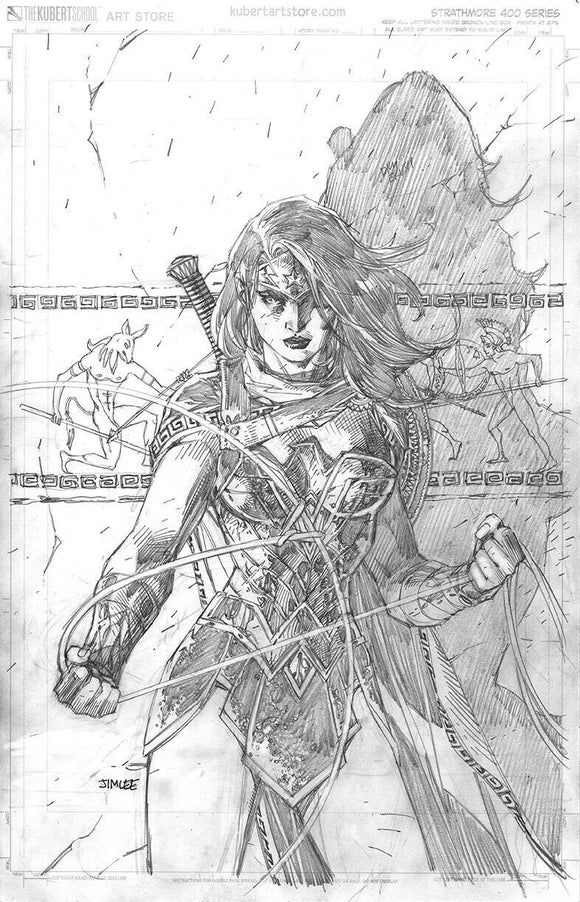 Pre-Order: WONDER WOMAN 750 1:100 JIM LEE PENCILS SKETCH INCENTIVE VARIANT