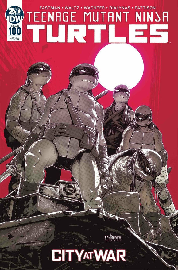 TEENAGE MUTANT NINJA TURTLES #100 Mateus Santolouco 1:10 Ratio Variant - Mutant Beaver Comics