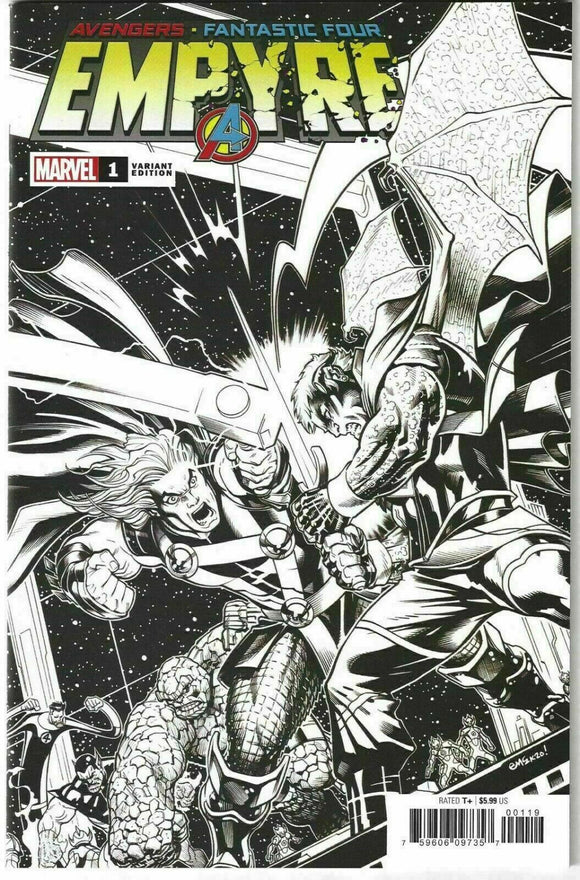 EMPYRE #1 Ed McGuinness Launch Sketch Variant ***One Per Store!*** - Mutant Beaver Comics