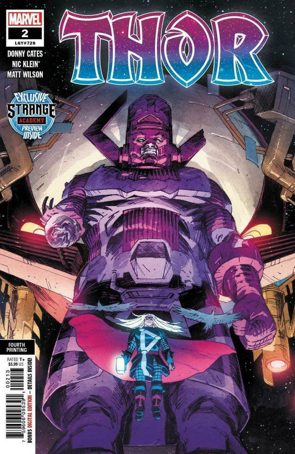 THOR #2 Fourth Printing! (Cameo of BLACK WINTER & 1st Strange Academy Preview) ***RED HOT!*** - Mutant Beaver Comics