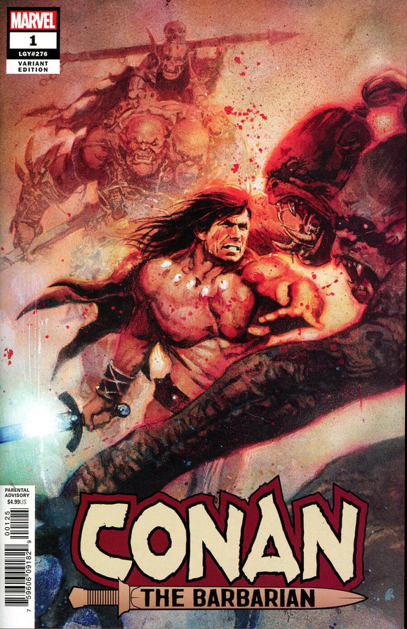 CONAN THE BARBARIAN #1 BILL SIENKIEWICZ 1:200 RATIO VARIANT - Mutant Beaver Comics