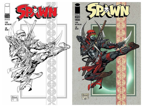 SPAWN #310 Ninja Set (2 Covers) - IN STOCK & READY TO SHIP! - Mutant Beaver Comics