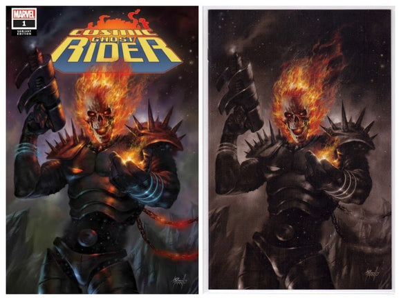 COSMIC GHOST RIDER #1 Lucio Parrillo Exclusive Set (Trade + Color Splash Virgin) - Mutant Beaver Comics