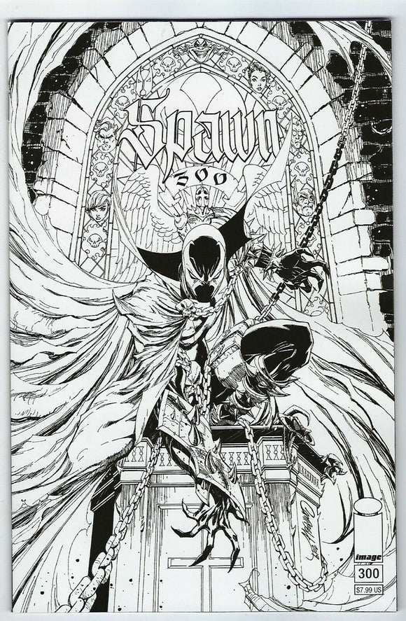 SPAWN #300 J. Scott Campbell B/W - Mutant Beaver Comics