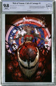 "CULT OF CARNAGE ULTIMATE ""Smashed Glass"" CBCS 9.8 Edition ***Limited to ONLY 166 !*** - Mutant Beaver Comics"