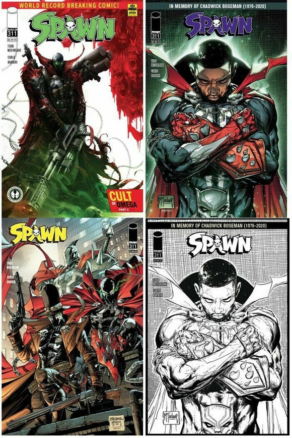 SPAWN #311 Complete Set (4 covers) - Mutant Beaver Comics