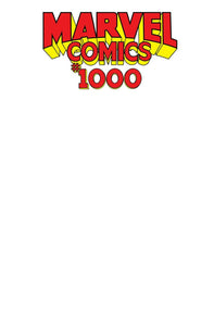 MARVEL COMICS #1000 Sketch Blank - Mutant Beaver Comics