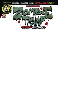 ZOMBIE TRAMP #57 Sketch Blank - Mutant Beaver Comics