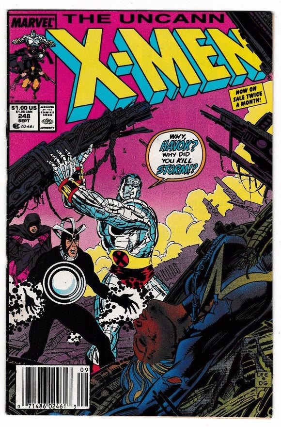 UNCANNY X-MEN #248 Newsstand Edition (1st Jim Lee on X-Men) - Mutant Beaver Comics