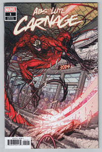 ABSOLUTE CARNAGE #1 Bradshaw 1:50 Ratio Variant - Mutant Beaver Comics
